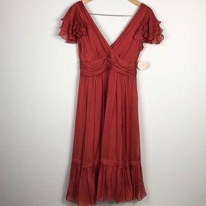 Rebecca Taylor silk chiffon dress
